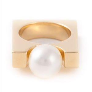 Chloe Darcey Square Pearl Ring